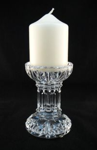 Crystal Pillar Stem Candle Holder | Wonderful Waterford ...