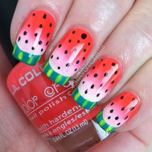 Watermelon♥NAILS @Jamie Guthrie