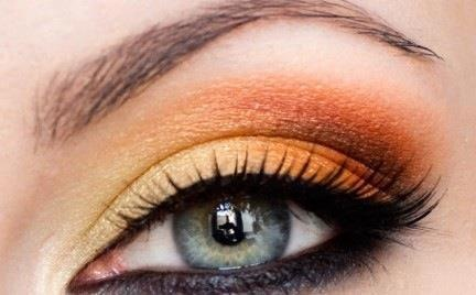 Sunny Orange Makeup