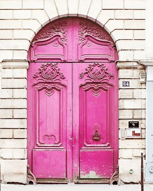 Beautiful pink doors!!! Love these doors!!! Bebe'!!!