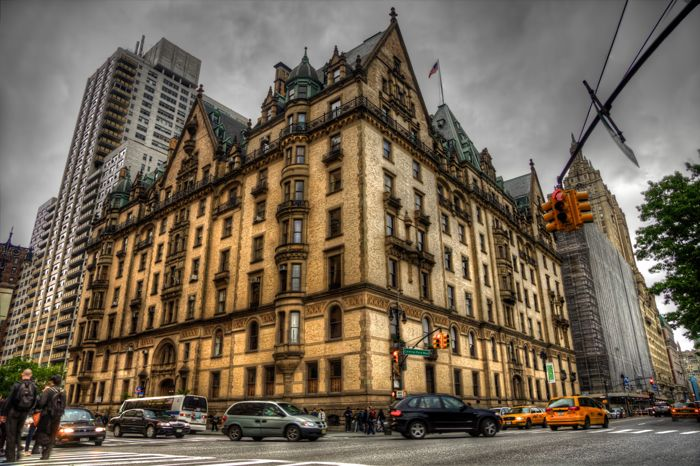 The Dakota- New York. This building has served as the scene of famous murder and as the facade of the Bramford in 1968 Roman Polanski film Rosemary's Baby.