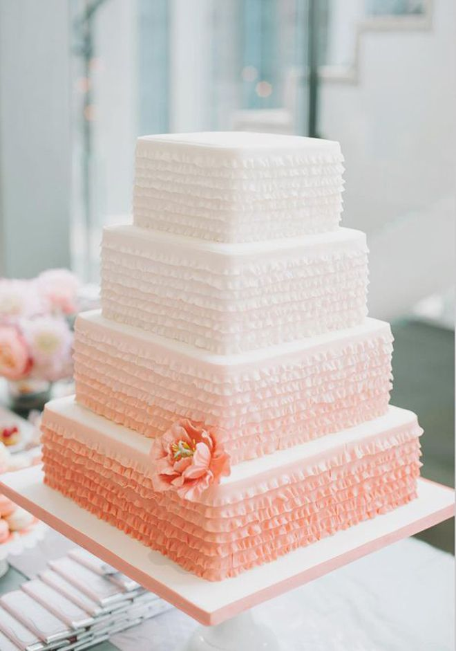 12 Fabulous Ombre Wedding Cakes | bellethemagazine.com #ombrewedding #weddinginspiration