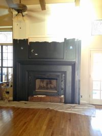 Painting the Fireplace Black | TO DO...someday... | Pinterest
