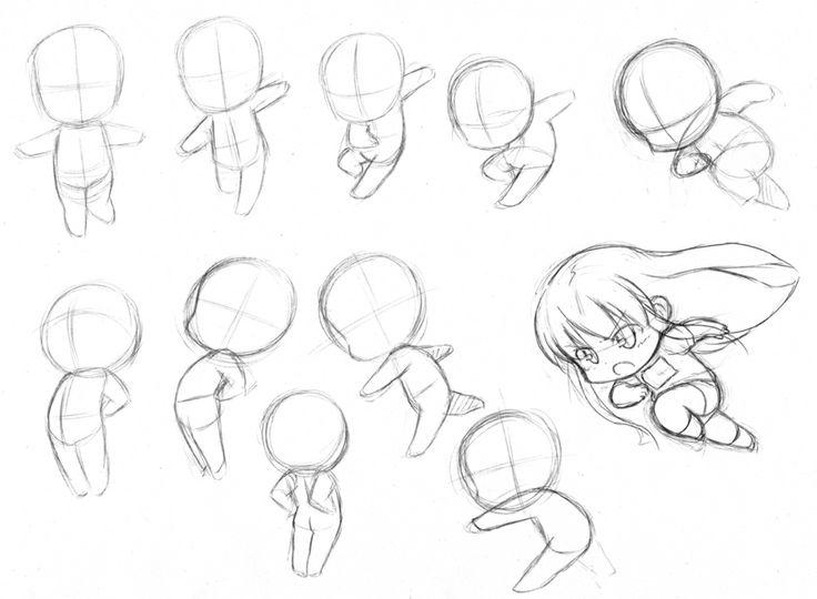Manga Girl Body Base Sketch Templates