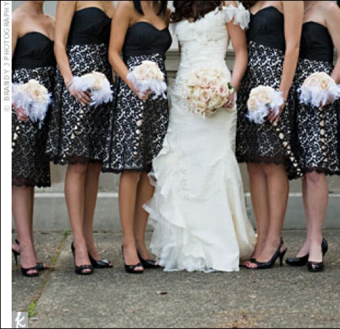 Love Patterned Bridesmaid Dresses