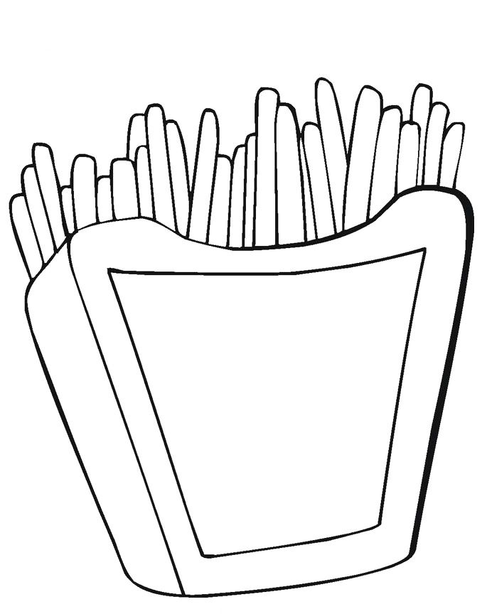 Fries Coloring Coloring Pages