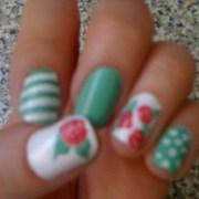 shabby chic nail art nails