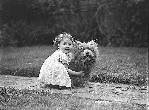 Girl and terrier