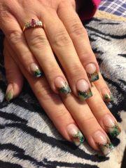 acrylic nails camo design