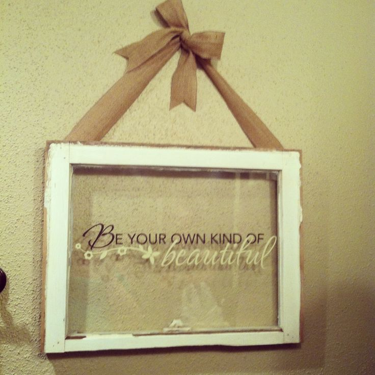 Artistic Ideas For Old Window Frames