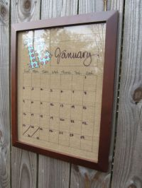 Dry Erase Burlap Calendar