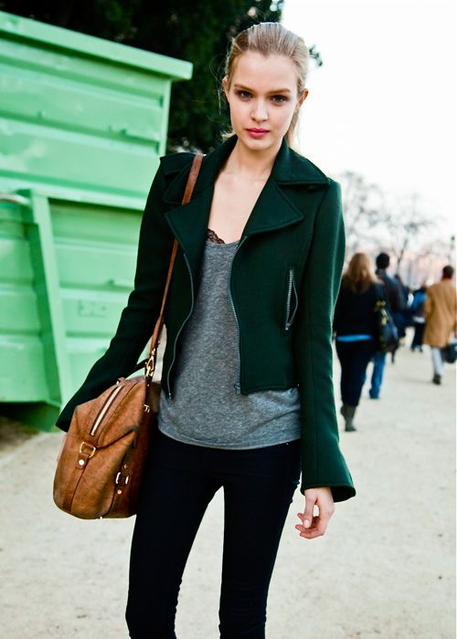 lovely jacket with a slight bell-sleeve