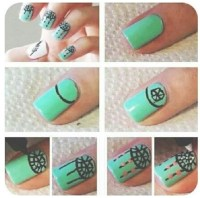 Cute nail design step