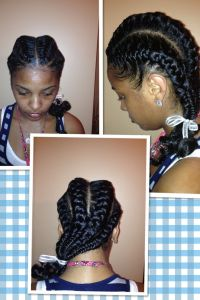 French braids on natural hair | Natural hair styles ...