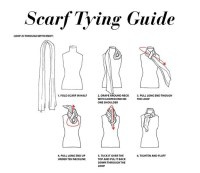 scarf tying guide | Scarf Technique | Pinterest