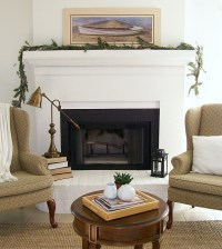 DIY fireplace surround - cover up outdated brick fireplace ...