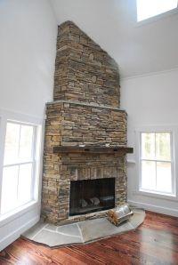 Corner fireplace. | Corner fireplaces | Pinterest