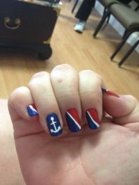 Carnival cruise nails nautical | Nail Art | Pinterest