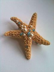 starfish mermaid hair clip barrette