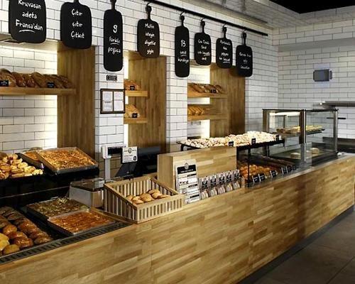 MODERN Bakery Shop Interior Design retail spaces Pinterest
