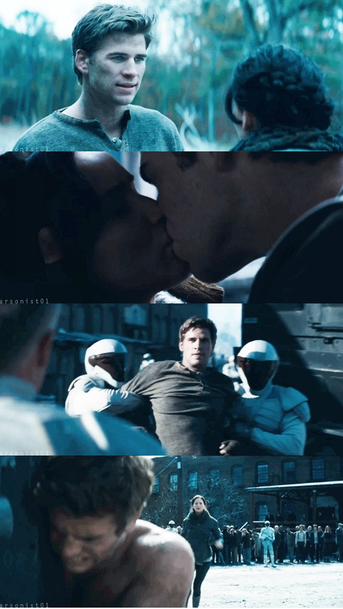 Gale and Katniss in Catching Fire...them two just had some amazing moments