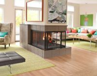 fireplace in center of room | For the Home | Pinterest