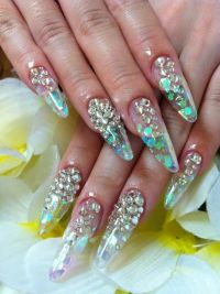 Clear Nails With Designs | Nail Designs, Hair Styles ...