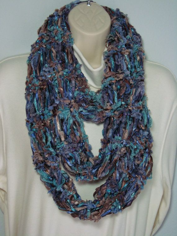 From A Circle Loom Knitted Scarves