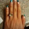 Nail art green amp black french nails pinterest