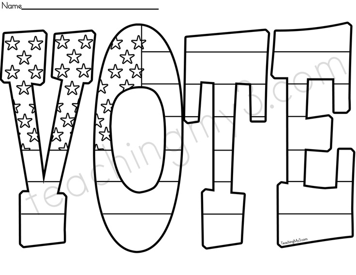 Coloring Vote For Me Coloring Pages