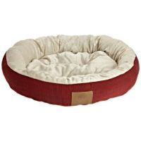 AKC Casablanca Round Solid Pet Bed, Red | Dog beds ...