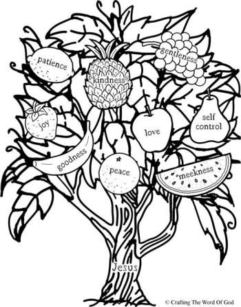 Fruit Of The Spirit Coloring Page   Children/youth ...
