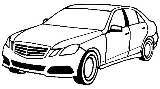 Free mercedes c coloring pages
