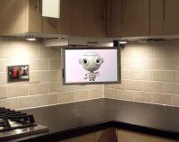 Flip Down under cabinet TV for kitchen   Dream Home Ideas ...