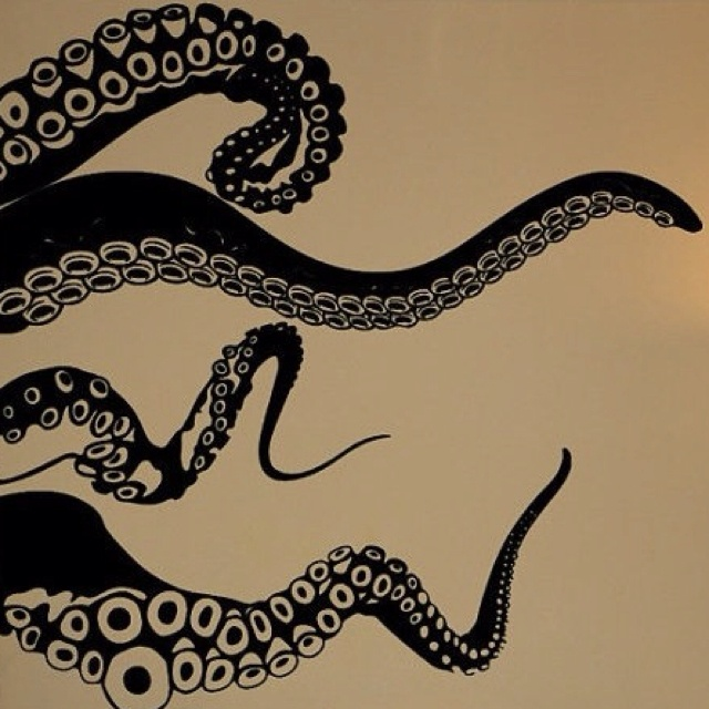 Octopus wall decal, you will be mine