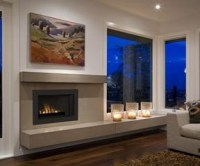 Low profile gas insert fireplace