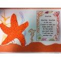 Starfish and poem the grade 1 class made cover the star in glue