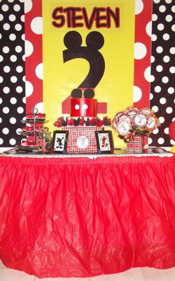 Mickey Mouse Party Candy Dessert Table Bar Buffet