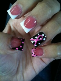 breast cancer awareness acrylic nails | Hair Nails Make-up ...