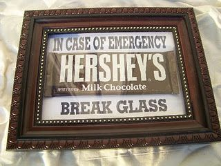 Hahahaha...cute gift idea!  Dollar store frame and chocolate