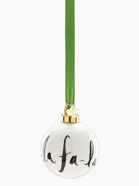 DECK THE HALLS Fa La La Ornament - kate spade new york