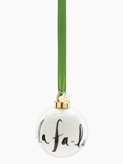 DECK THE HALLS Fa La La Ornament - kate spade new york