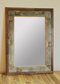 Reclaimed Wood Mirror - Pallet Project | crafts | Pinterest