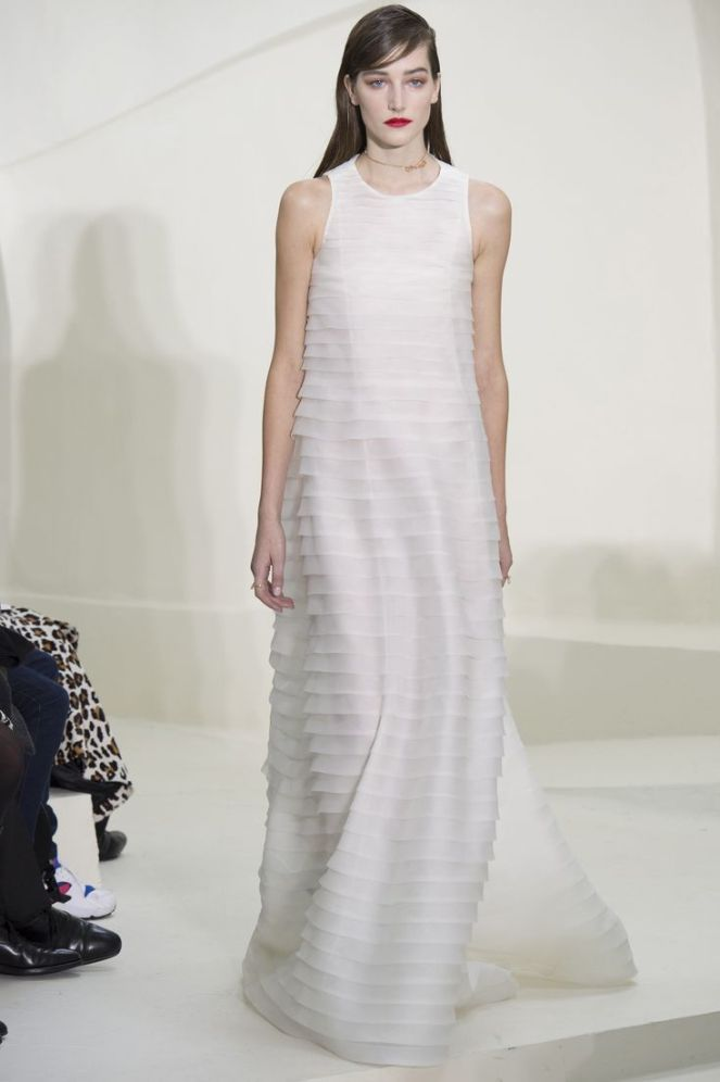 Christian Dior Spring 2014 Haute Couture, white layered dress