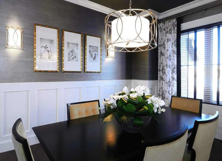grasscloth wallpaper in dining room 2017  Grasscloth