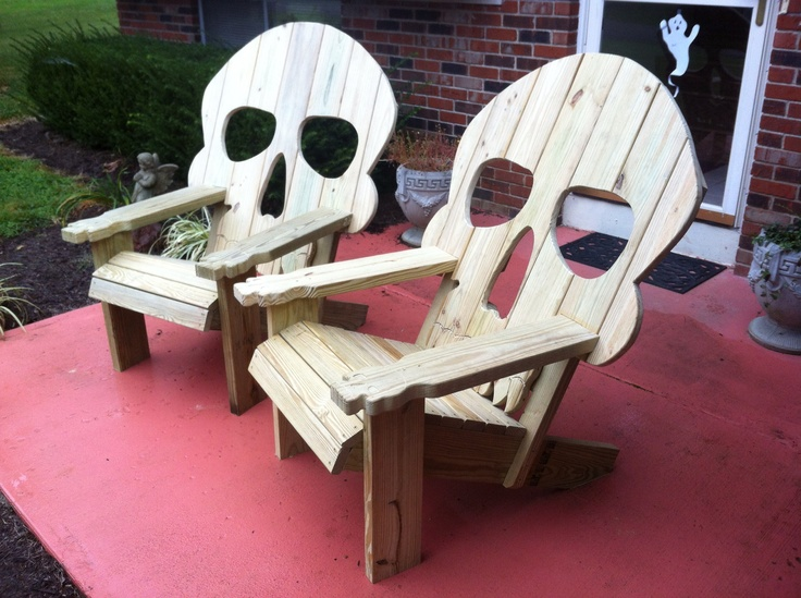 skull adirondack chair plans high chairs for seniors easy small woodworking projects