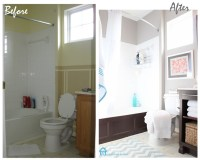 Cheap Bathroom Makeover. | Banos | Pinterest