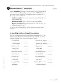 Denotation and Connotation   Denotation and connotation ...