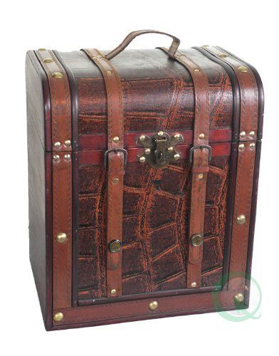 Old Fashioned Wood Storage Trunk Cherry