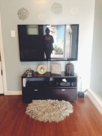 TV stand decor #homedecor | Apartment ideas | Pinterest